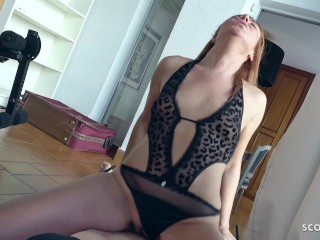GERMAN SCOUT - CRAZY GINGER MILF BIANCA SEDUCE TO FUCK AT PICK UP CASTING