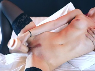 Dreaming of u. Crazy pussy eating and jump on big dildo. real orgasm