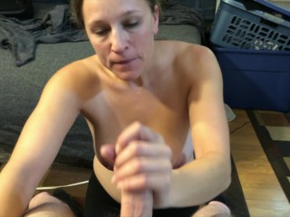 MILF Whore cumshot collection slut blasted on by 7 different guy Houston/TX