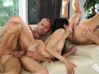 GIRLSRIMMING - Crazy rimming threesome with skinny Ashley Ocean