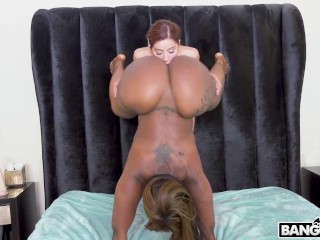 BANGBROS - Vanna Bardot Licking Black Big Ass While Standing Up