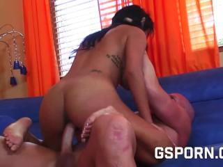 Busty Asian Milf Fucking Like A Crazy Slut And Swallowing Cum