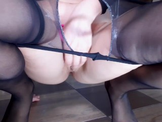 CRAZY SQUIRT ORGASM OF MY HOT STEP MOM!YOUNG MILF & SEXY HOTWIFE MOANS,PISS