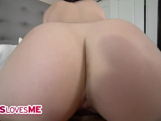 SisLovesMe - Troublemaking Stepsis Deepthroats Her Stepbrother's Fat Cock