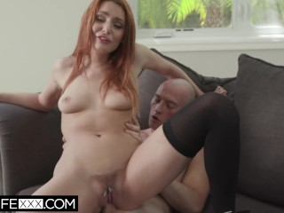 HotwifeXXX - Husband Watches Redhead Shared Wife Lacy Deepthroat