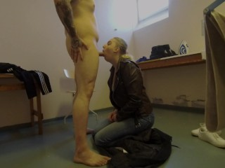 Swedish Teen Sucks Cock And Talks Dirty In Public Areas And Recieves Facial