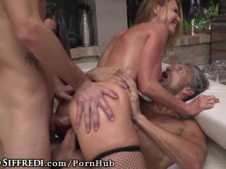 Rocco Siffredi's Compound Hosts DP, Anal, Big Cock Throating Orgy
