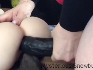 2 Big Black Monster Dicks Tag Team Sex Doll Anal DP Threesome