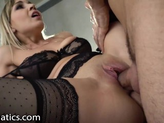 DPFanatics Hot Girl With Big Tits Gets Double-Pleasured Deep With Cumshots