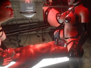 Citor3 3D SFM BDSM  vr game Huge tits latex mistress breast feeding vacuum pump edging cumshot
