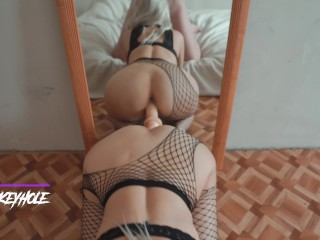 One dick inside me was not enough! MORE!!! DP 4k