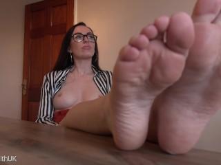 Professors Foot Humiliation