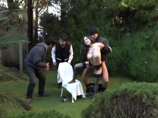 Outdoor Japanese cheating wife sex Aimi Yoshikawa