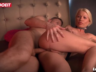 French Stud Fills Both Holes of a Milf slut and Cums Inside