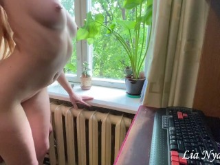 Hard sex with young stepsister while parents are not at home - Lia