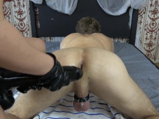 Pegged with a HUGE STRAPON and DOUBLE FISTED by Charlotte Cross