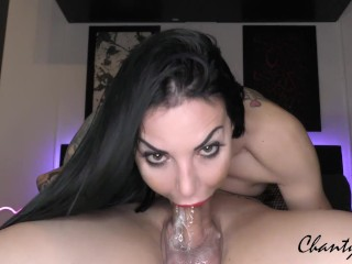 EXTREME Slow & messy DEEPTHROAT 69 with double burst THROATPIE! ChantyChrys