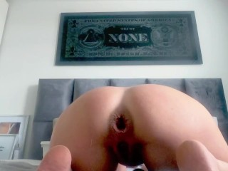 Biggest anal buttplug ever!