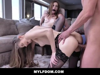 MYLFDOM - Hot Teen Gagged And Fucked For Cheating With Milf