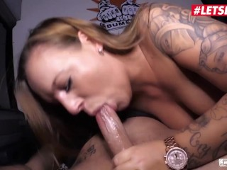Bums Bus - Big Ass Busty MILF Loves To Ride Cock In German Taxi - LETSDOEIT