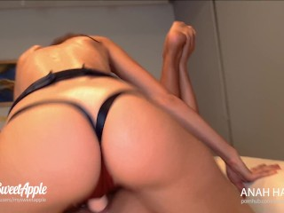 Strap On Threesome Double Facial - Amateur MySweetApple and AnahHabana