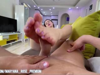 My Foot Fetish. I jerked off my feet. Alexandr Great Cum On My Feet