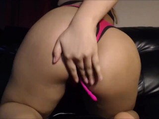 Worship my Big Round Booty on Webcam cute Pink Thong (music)
