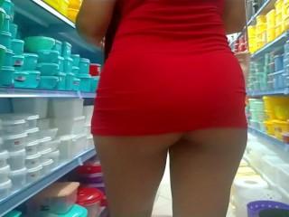 MICRO SEXY DRESS NO PANTIES TEASES
