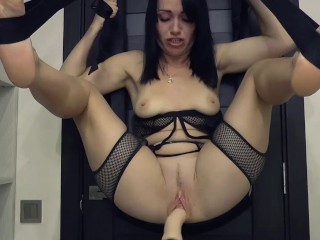 Amazing fast machine fuck, crazy squirt and orgasm #3