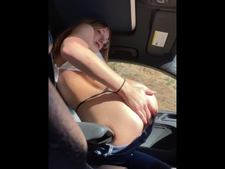 SEXY SQUIRT & CUM IN PUBLIC CAR with STRANGER - KALI LOVER