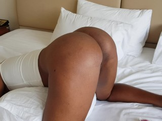 Sexy Latina Stepsister Teasing Flashing Her Beautiful Thick Ebony Booty and Pussy