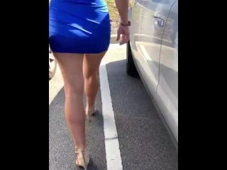 Slut loves flashing pussy