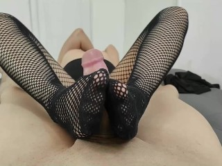 My fishnets look better when you cum on them