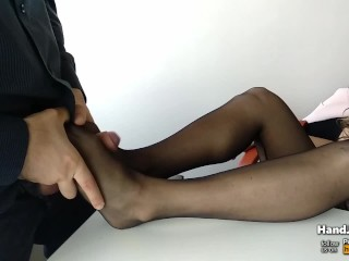 HandJoy * Secretary gives a Footjob the Under Table * request by fffan1875