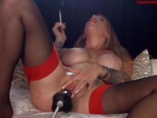 Danielle Maye smoking fucking machine