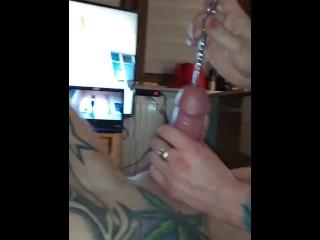 Mistress Katrix penis torture with pump and dilator,cervix femdom.
