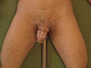 Fucking machine 4 ORGASMS in 20 MIN Challenge prostate milking anal orgasm in chastity (trailer)