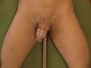 4 Orgasms in 20 MIN Challenge Anal vibrator - prostate milking anal orgasm in chastity (trailer)