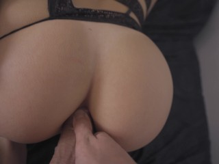 Perfect Body Teen ANAL in Sexy lingerie POV - morningpleasure