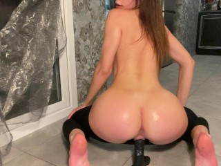babe with big ass oiled up riding bbc