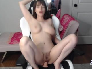 Perfect Big Tits Camgirl Big Dildo Fuck and LOUD Orgasm