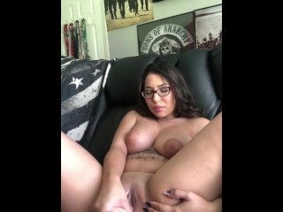 Horny Latina uses new toy in her creamy pussy