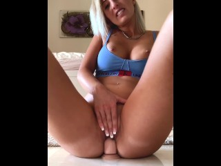 Incredible hot girl get naked and has fun with her dildo