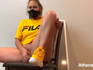 Blonde Dreadlock PAWG Rides Dildo and Squirts | Pussy is Drenched