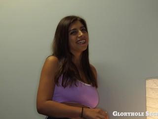 Natural big breasted Latina Ella Knoxs shares all about picking up GIRLS