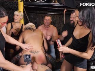 CrowdBondage - Busty British Babe Barbie Sins Hot Sex