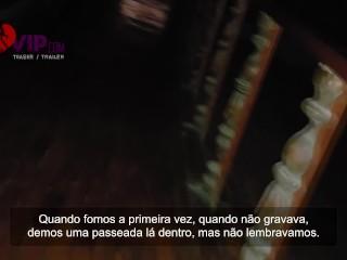 Hotwife with cuckold husband in the cinema - Cristina Almeida