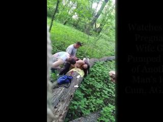 Pregnant Wife Fucks Stranger in Front of Cuckold Husband