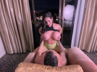 Big Tits Milf try to make me cum with a Titty Fuck but I decided to fuck her