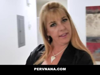 Busty Matured Cougar Blows And Fucks Neighbors Cock